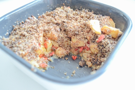Apple crumble dish