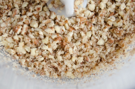 Pecan nuts, chopped in food processor