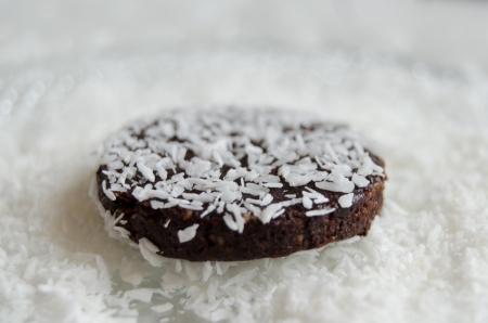 raw vegan chocolate cookies with coconut
