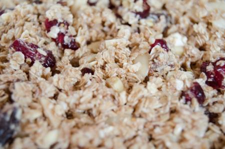 raw granola mixture
